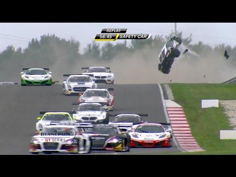 Lamborghini in massive crash at Slovakia Ring Circuit