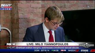 PRESS CONFERENCE: Milo Yiannopoulos Resigns from Breitbart, Tells Story of Childhood Sexual Abuse