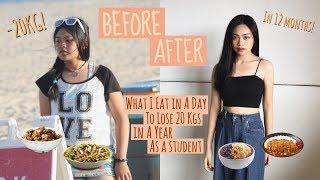 What I eat in a day to lose 20kgs in a year | easy & delicious diet meals ideas!
