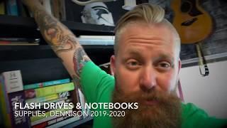 Supplies:  Flash Drives & Notebooks