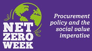 Click here to play the Procurement policy and the social value imperative video