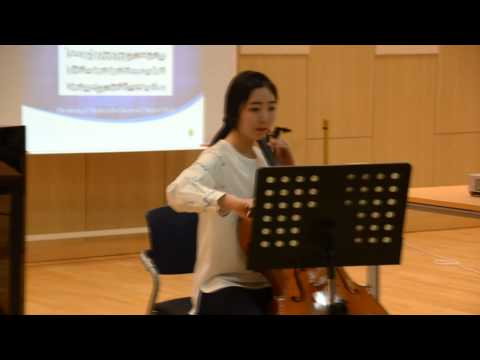 May 14 2014 - Lecture Recital on the Cello
