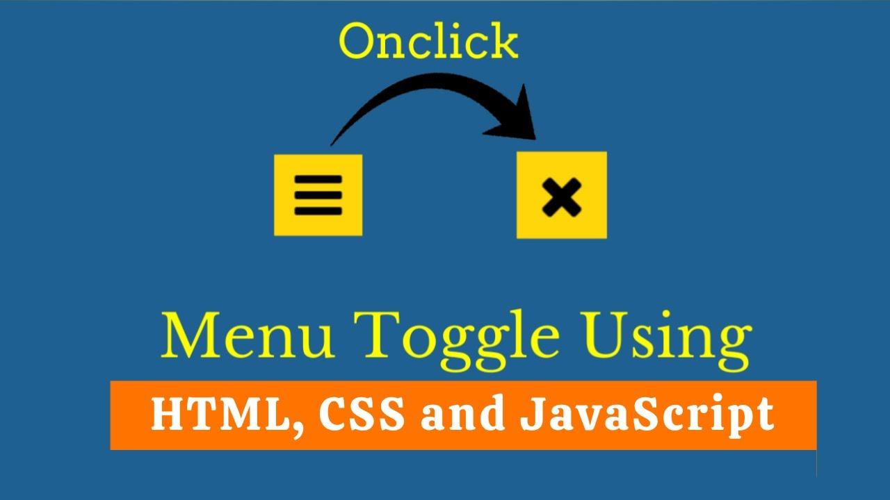 Toggle Menu Icon Using JavaScript | Menu Toggle Icon using CSS & Javascript