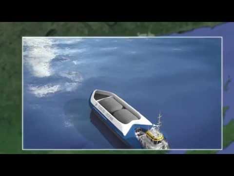 Barge de liquéfaction et transport de gaz naturel