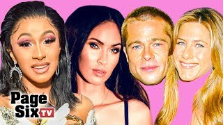 Cardi B's PDA, Grammys Party, Celebrity Lingerie, & Jennifer Aniston with Brad Pitt | Page Six TV