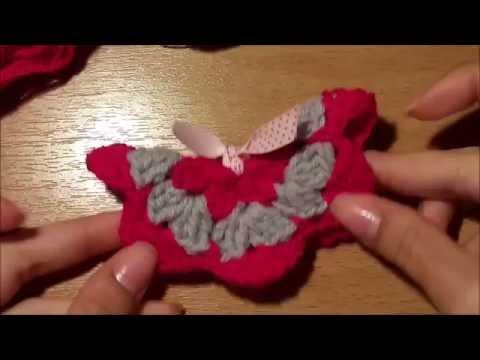 ΠΟΛΥ ΕΥΚΟΛΗ πλεχτη τρισδιαστατη πεταλουδα!!! - VERY EASY 3D crochet butterfly