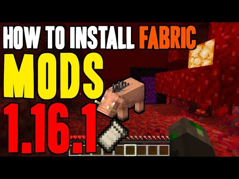 How To Install Mods 1 16 1 In Minecraft Download Install Fabric Loader Mods 1 16 1 On Windows Youtube
