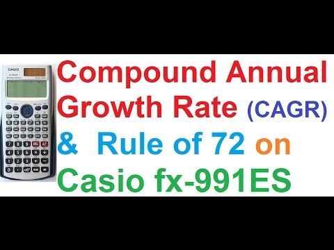 Compound Annual Growth Rate (CAGR) and Rule of 72 on Casio fx-991ES Scientific Calculator