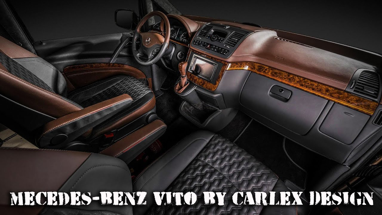 2018 mecedes benz vito interior tuned by carlex design
