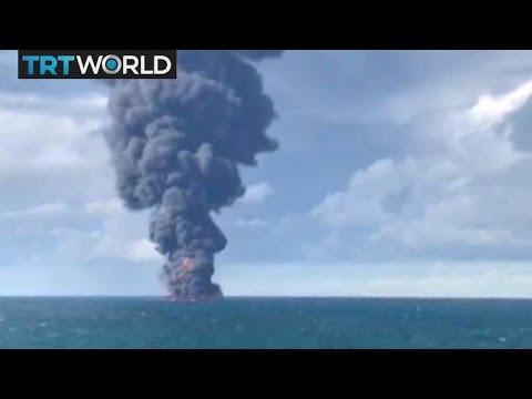Tanker Collision: Iranian oil tanker ablaze off China has sunk