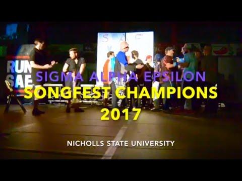 Sigma Alpha Epsilon - Nicholls State University Songfest Champions 2017