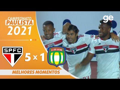SÃO PAULO 5 X 1 SÃO CAETANO | MELHORES MOMENTOS | 11ª RODADA PAULISTA 2021 | ge.globo