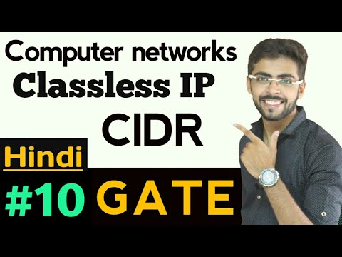 Classless inter Domain Routing | CIDR | classless ip addressing in hindi | Computer Network GATE #10