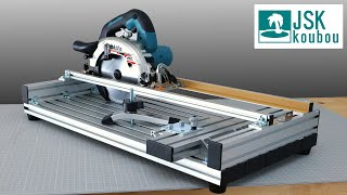 Aluminum frame circular saw slide guide