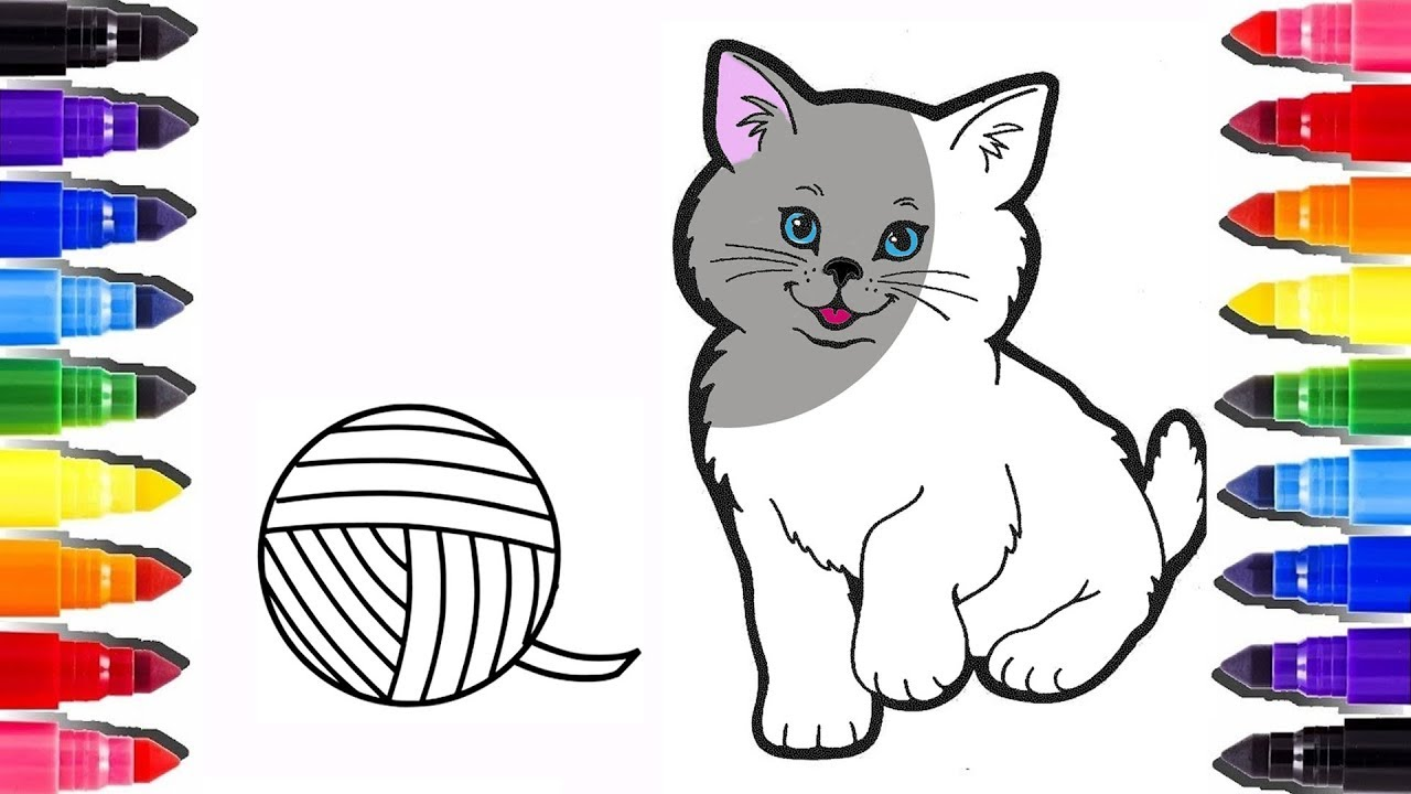 Coloriage Chat Mignon How To Draw A Cat Coloring Pages Learn