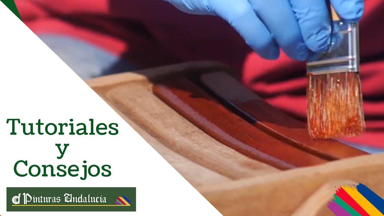 Pinturas Andalucía - Cómo tratar MUEBLES TECA jardín - YouTube