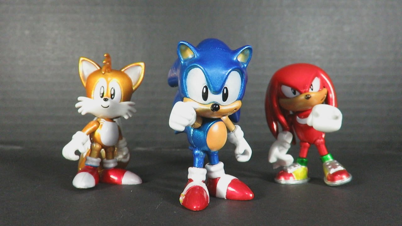 Sonic The Hedgehog 25th Anniversary Metallic Action Figure 3 Pack By Tomy Video Review Youtube