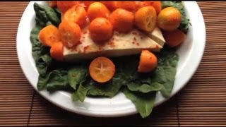 Tofu Kumquat Fruit Diet Salad -- Or Desert