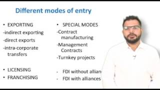 selecting and managing entry modes in international business franchising