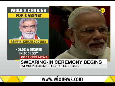 Watch new cabinet ministers take oath at Rashtrapati Bhawan