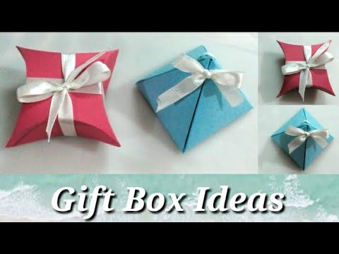 DIY Gift Boxes - Paper Crafts - Gift Wrapping Ideas..