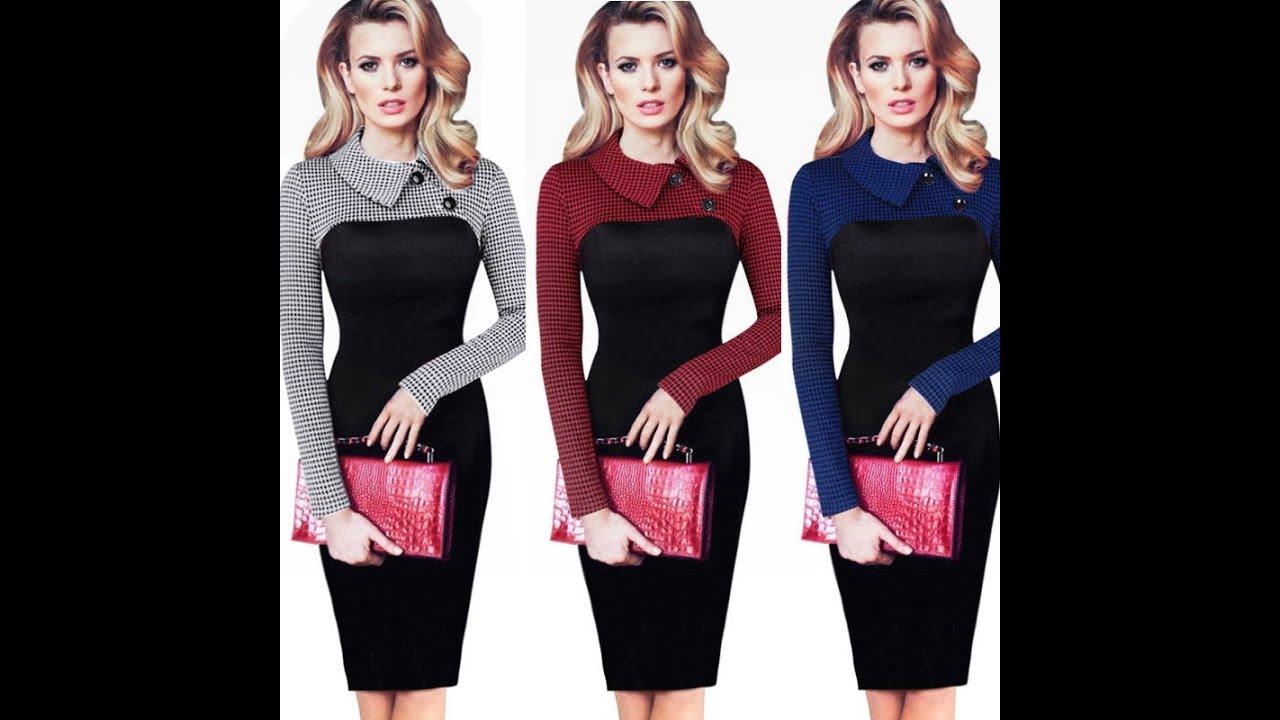 Покупка Одежды с AliExpress - Красивое офисное Вельветовое платье .