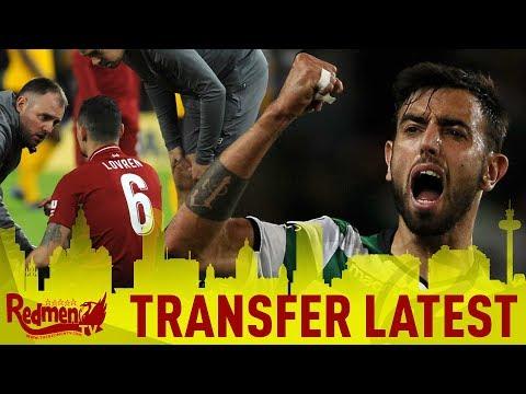 Bruno Fernandes Linked and Lovren Injury Latest | Liverpool NEWS
