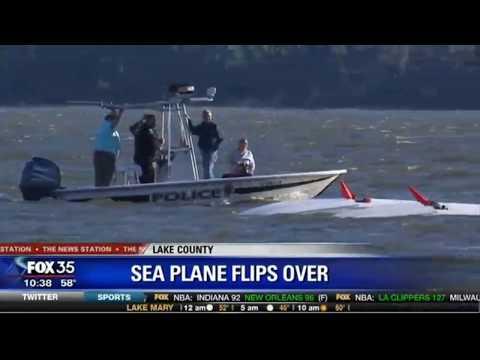 Seaplane Flips Over in Lake Dora | Mount Dora | Tavares, Florida
