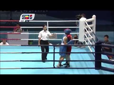 Ангелина Бондаренко - Эсра Йилди @ Nanjing 2014 Boxing Anhelina BONDARENKO vs Esra YILDIZ
