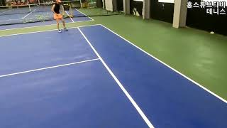 [홍스테니스] 고프로8 액션캠 1인칭슈팅시점 테니스복식…