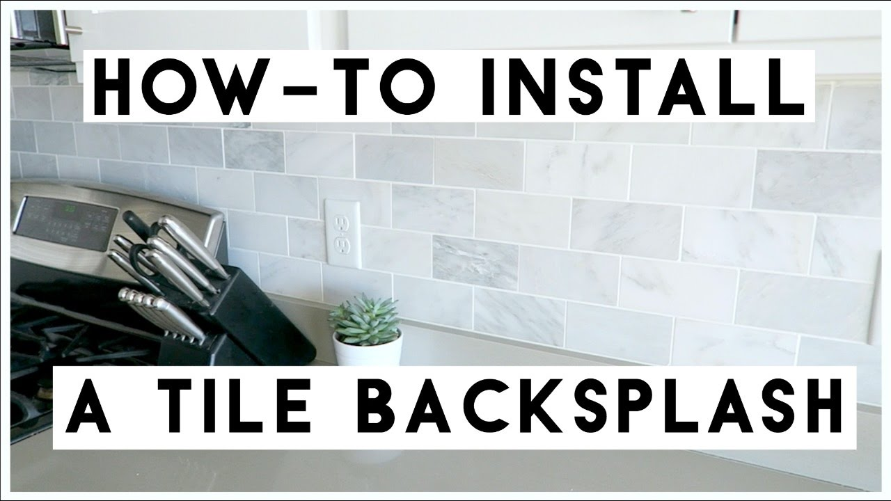 - HOW-TO INSTALL A TILE BACKSPLASH! MICHELLE PEARSON - YouTube