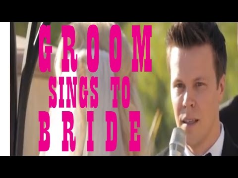 Groom Sings to Bride at Wedding (Halfway Hitched)