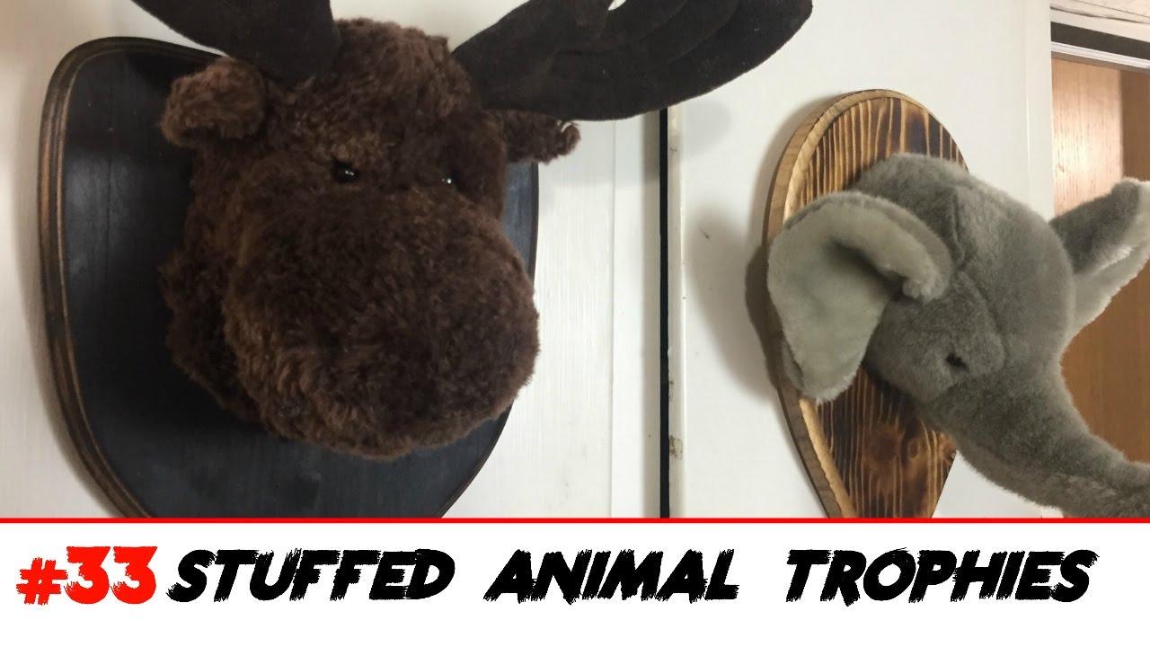 Stuffed Animal Head Trophies - YouTube