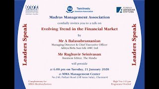 """The Talk on """"Evolving trends in the Financial Market"""""""