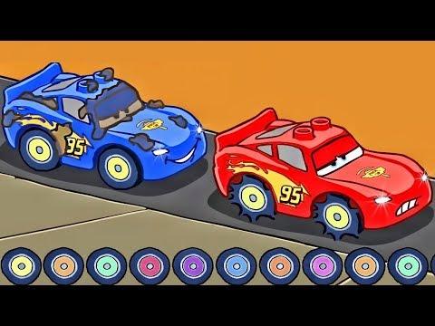 CARS Rayo McQueen - Carrera Final   Dibujos Animados en Español