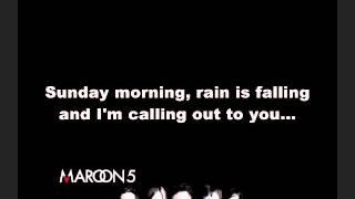 Maroon 5   Sunday Morning Lyrics