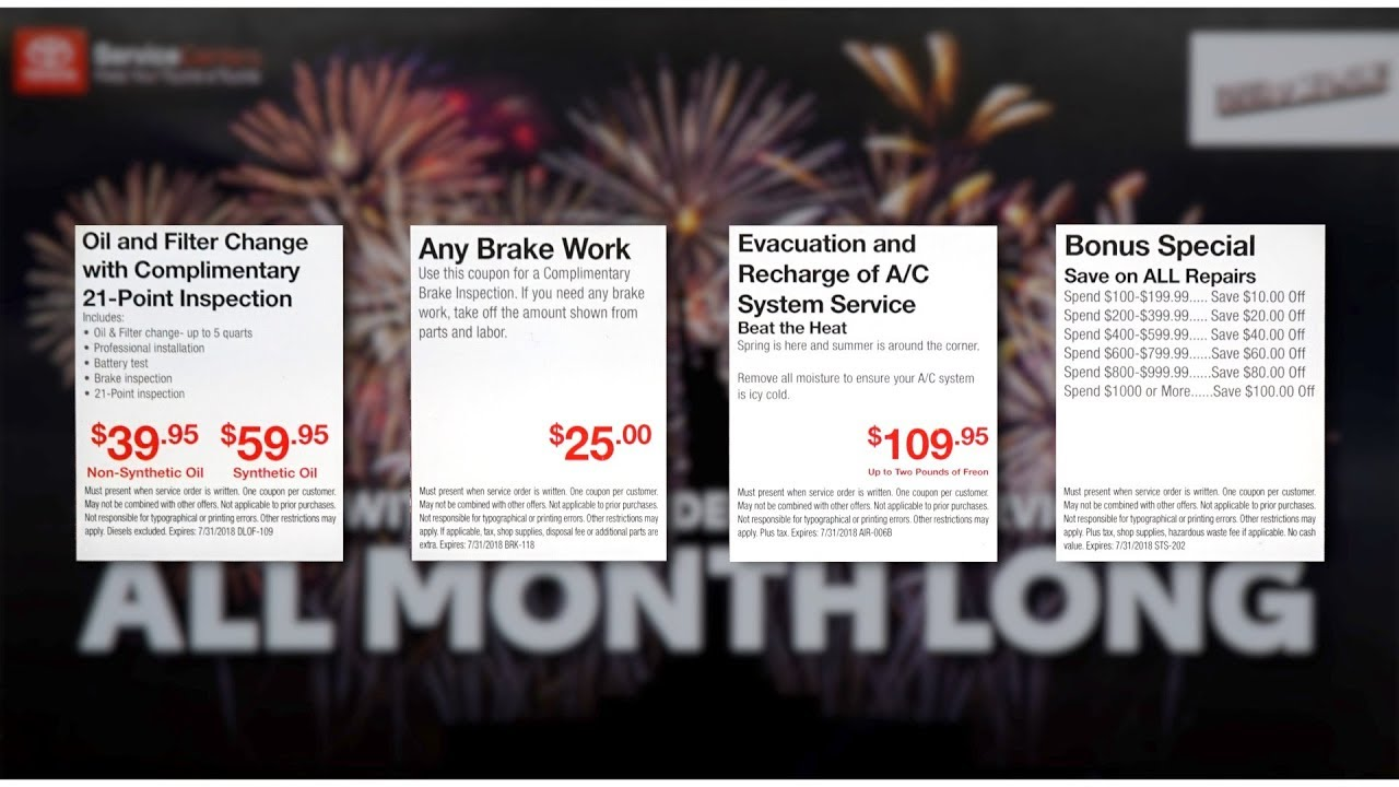 Lovely Toyota Of Des Moines July Service Specials