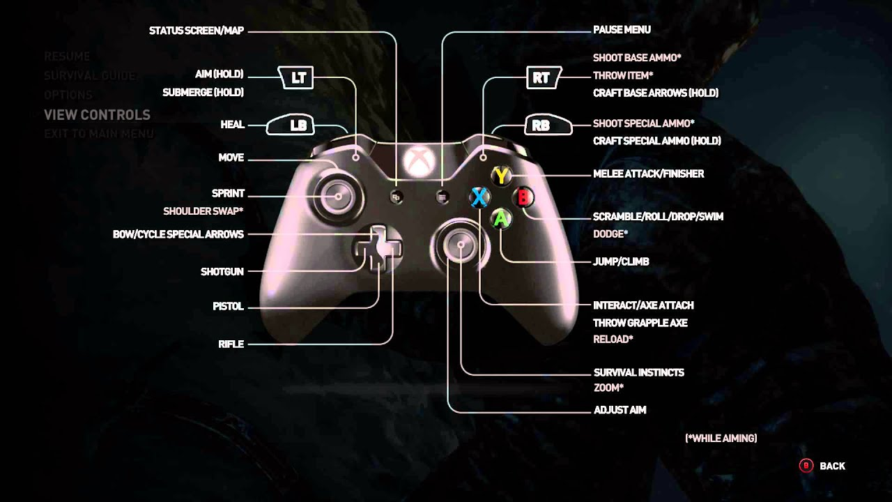 rise of the tomb raider xbox one buttons controller layout rh youtube com Xbox 360 Users Manual Xbox 360 Setup Manual