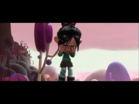 Vanellope Von Schweetz Crying Because Wreck It Ralph He Smashed In Training Car Youtube