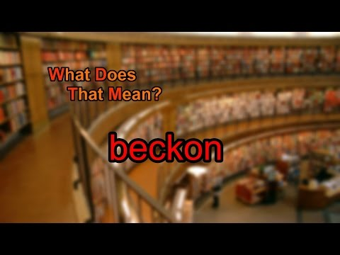 What does beckon mean?