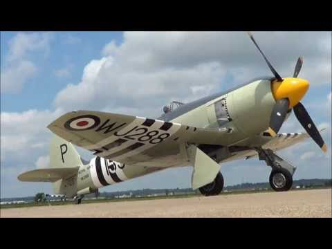 Sea Fury Start Up at Cape Girardeau's Airport