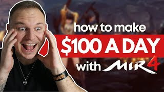 How to Make $100 a DĄY with Mir4 NFT GAME (Play 2 Earn Crypto Games)
