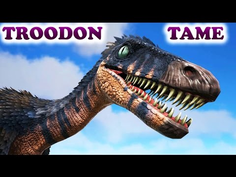 ARK HOW TO TAME A TROODON (Big Taming Test) Everything About The Troodon Ark Survival Evolved