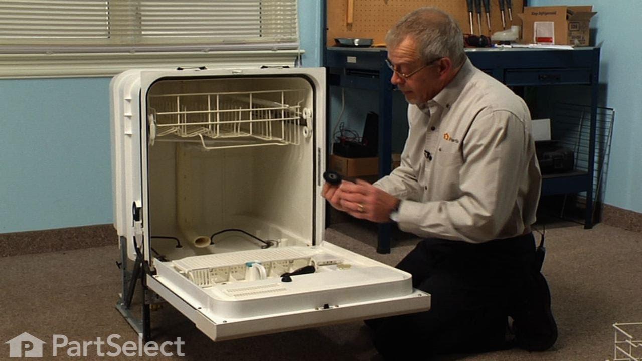 Dishwasher Repair Replacing The Drain Wash Impeller Whirlpool Part 675806 Youtube