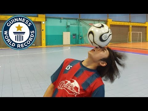 Eye to eye football rolls – Guinness World Records Day