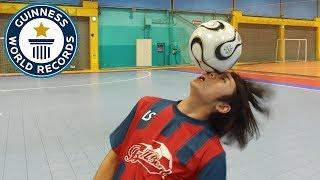 Eye to eye football rolls - Guinness World Records Day