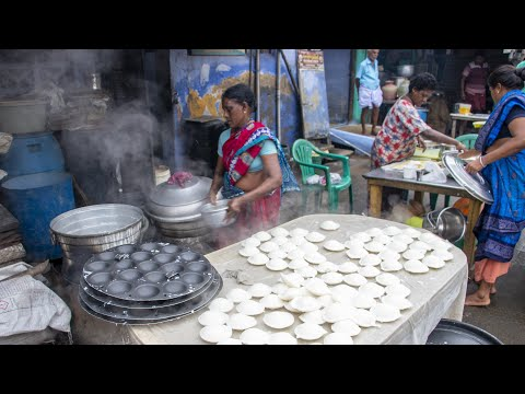 ஆஹா நம்ம ஊரு இட்லி -This Erode street is full of Idly shops -idly market  Erode Idli-ஈரோடு  ஸ்பெஷல்