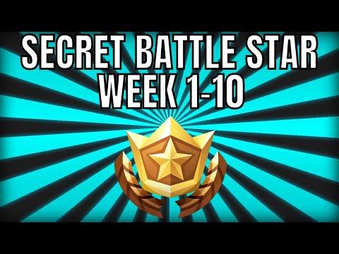 ALL Fortnite Season 6 Hidden Battle Star Locations Week 1 To 10 - Season 6