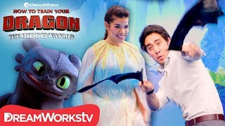 Toothless Dance Challenge ft Zach King & America Ferrera | HOW TO TRAIN YOUR DRAGON THE HIDDEN WORLD