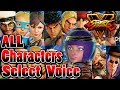 Street fighter 5 all characters select voice menat jap eng comparison mp3